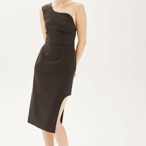 Topshop one shoulder scallop dress